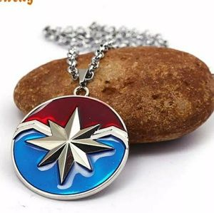 Captain Marvel Large Pendant Necklace